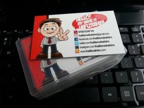 Blogger namecard