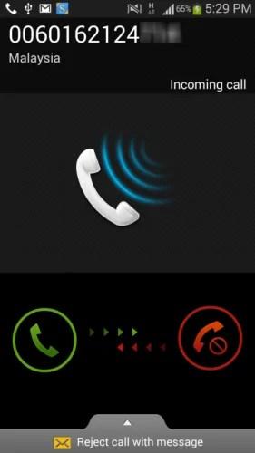 Panggilan telefon misteri
