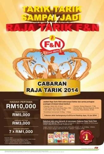Poster - Cabaran Raja Tarik F&N 2014
