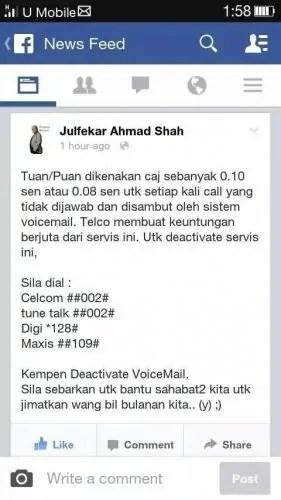 deactivate voicemail
