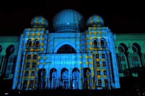 LAMPU Light Of Motion Putrajaya 2014-biru campur
