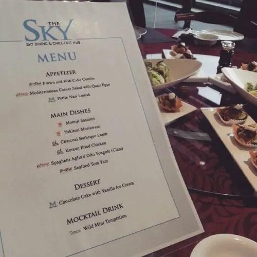 The Sky Signature dish