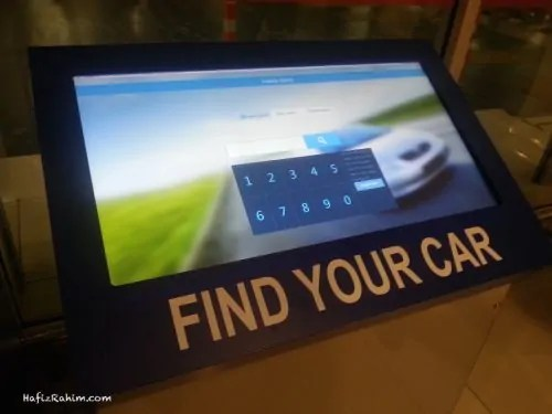 Find Your Car Car Park System display
