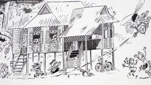 Kampung Boy Mural Art_Datuk Lat