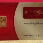 Emas Public Gold dengan pengiktirafan LBMA