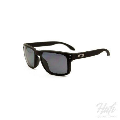 Oakley SI Holbrook Cerakote Polarized - Cerakote Graphite Black Frame - 3P Grey Polarized Lens - SKU: OO9102-91
