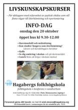 Affisch med bilder av skapande för Livskunskapskursernas infodag hösten 2021