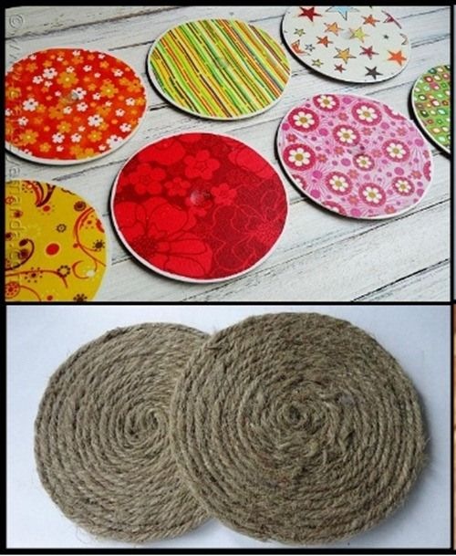 CD-reciclar-manualidades-posavasos