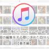 楽曲数の多いiTunesユーザー必見!曲情報の編集をする際に決めた自分ルール【基本編】