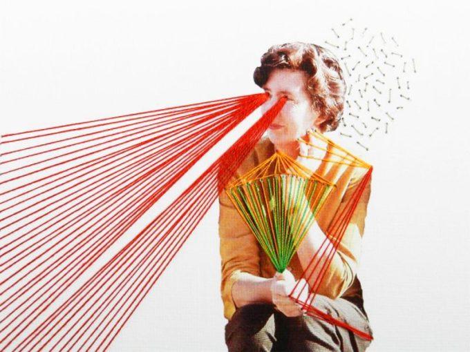 To web or not to web, commissionedwork for Xème Triennale internationale des mini-textiles, Musée des Beaux-Arts d'Anger, Angers- France