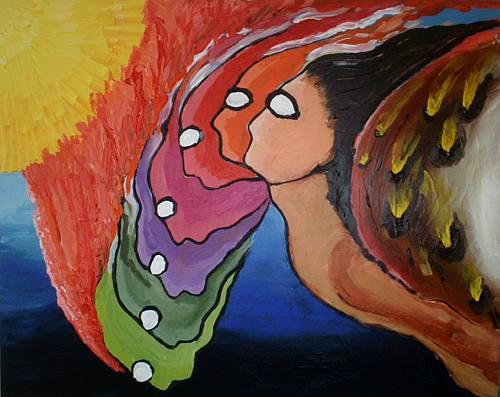 Icarus geschilderd door Hans´t Hart