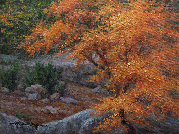 Autumn Hue 9x12 oil painting for eBay auction by William Hagerman copyright 2013