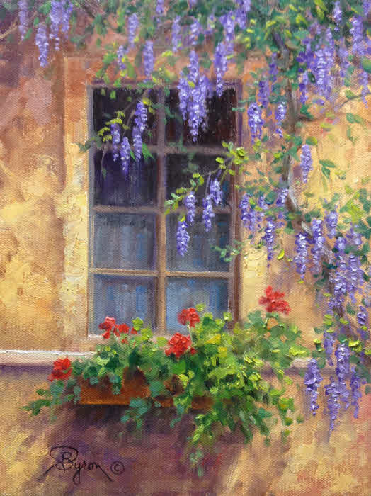 Oil painting demo the old window hagerman art blog by for Painting on glass windows with acrylics