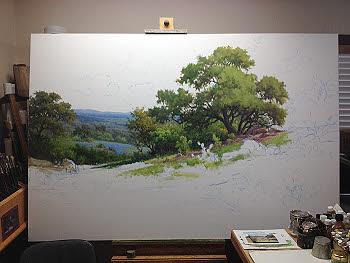 bluebonnet oil painting demo