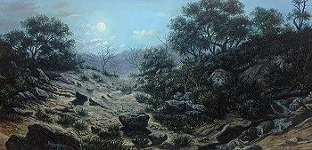 moonlight oil painting
