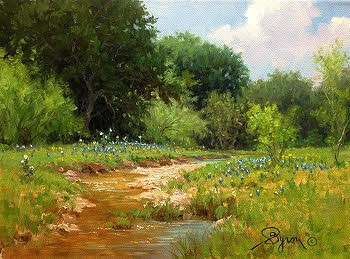 Spring Days 9x12 oil by Byron copyright 2016