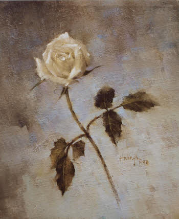 Clark Hulings Single White Rose