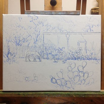 sketch for oil painting