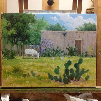 partical completion of an oil painting by William Hagerman