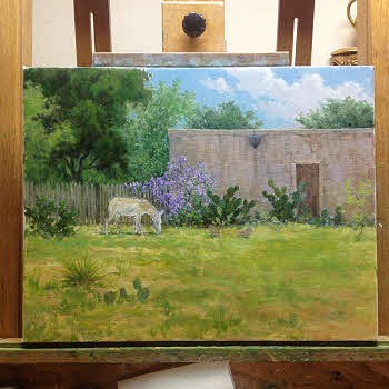 painting demo partial completion of oil painting by William Hagerman