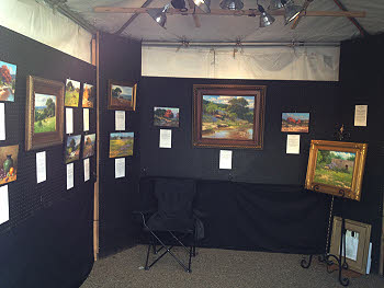 art booth display hagerman art