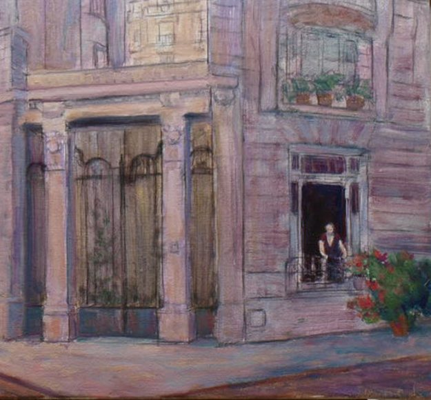 oil painting detail block in stage demo painting paris france