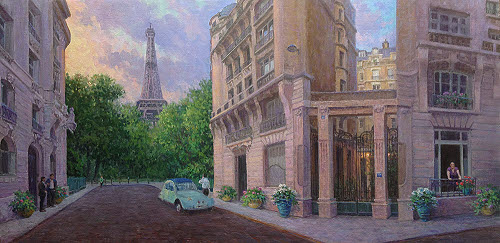 oil painting demo of Paris