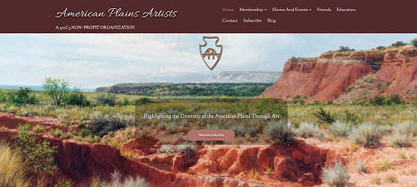 american plains artists website