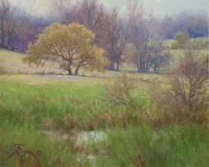 Texas Spring pasture and oak tree oil painting by William Byron Hagerman eBay oil painting