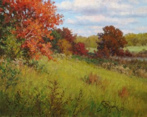 "Impressionist Autumn oil painting by William ""Byron"" Hagerman"