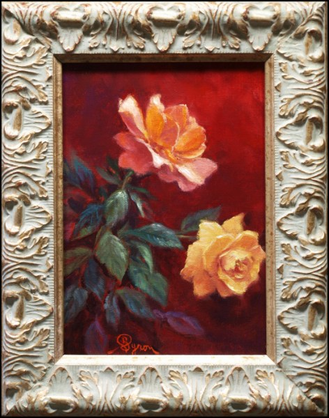 Still life oil painting roses, rose painting by William Byron Hagerman
