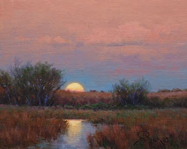 Full Moon Rising an oil painting by William