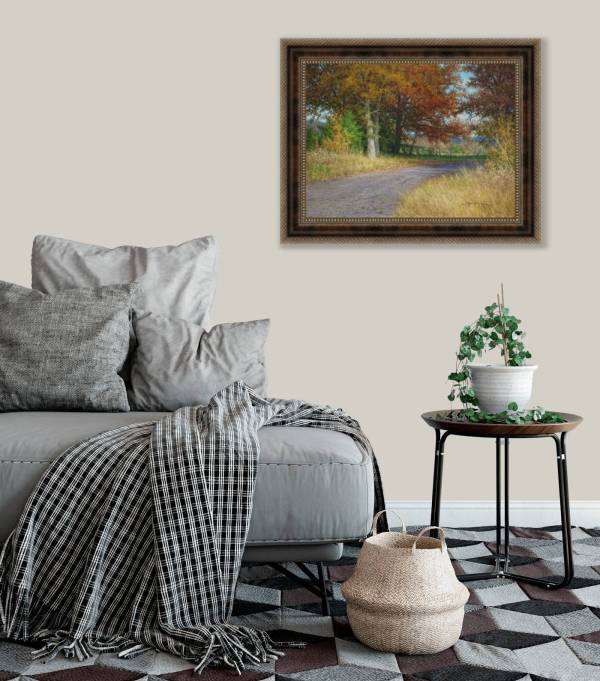 autumn landscape oil painting on wall by William Hagerman