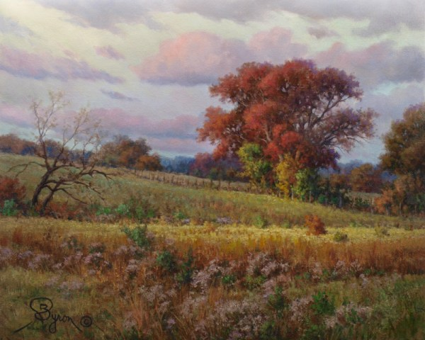 autumn landscape oil painting enhanced giclee on canvas by artist William Byron Hagerman