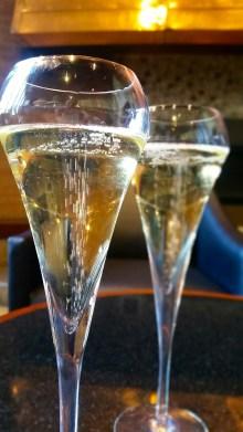 Celebratory champagne in Flagstaff
