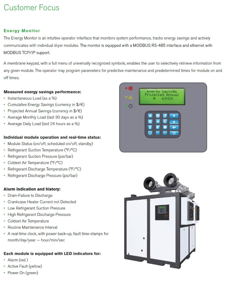 Deltech 1000 CFM Energy Saving Air Dryer for 200 HP Air