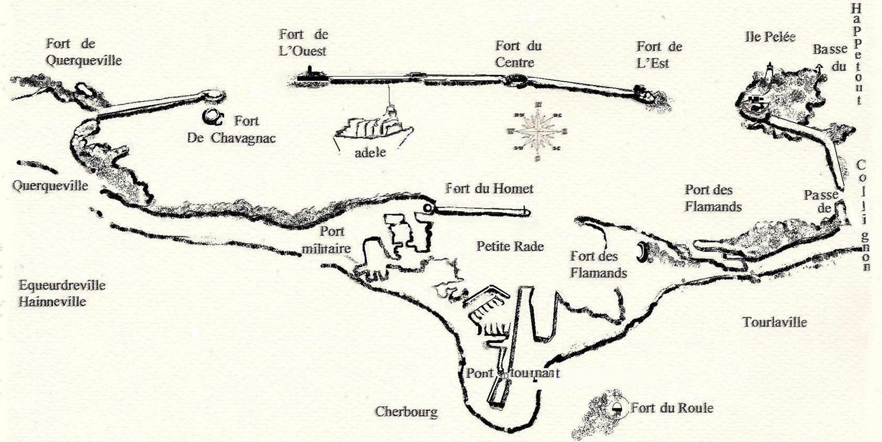 plan carte de la Rade © Hague à Part