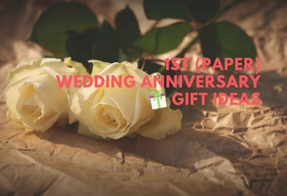 Romantic 1st (Paper) Wedding Anniversary Gift Ideas