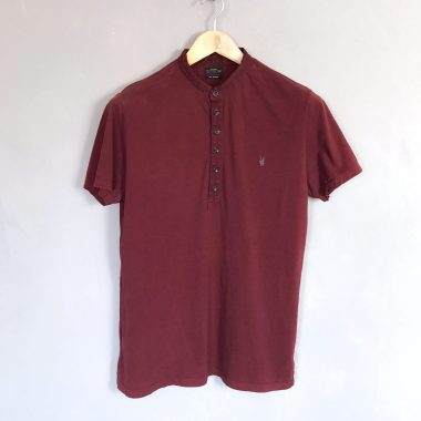 ALL SAINTS Poloshirt bordeaux polo shirt