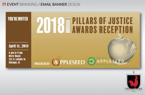 Event Branding | Email Banner Design for Pillars of Justice Awards Reception for Chicago Appleseed