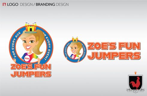 Logo Design, Zoe's Fun Jumpers | Hahn Design Studio, San Marcos, California