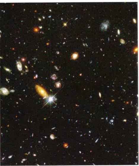 Deep Field Aufnahme des Hubble Teleskops  (R. Williams, Hubble Deep Field Team, NASA)