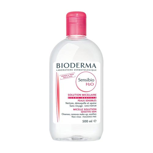 Cleanser untuk kulit sensitif dan berjerawat - Bioderma Sensibio H2O Micellar Water