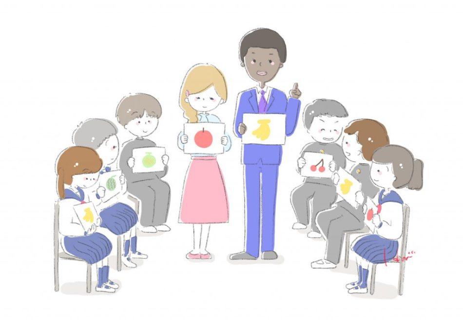 イラスト 英語の授業