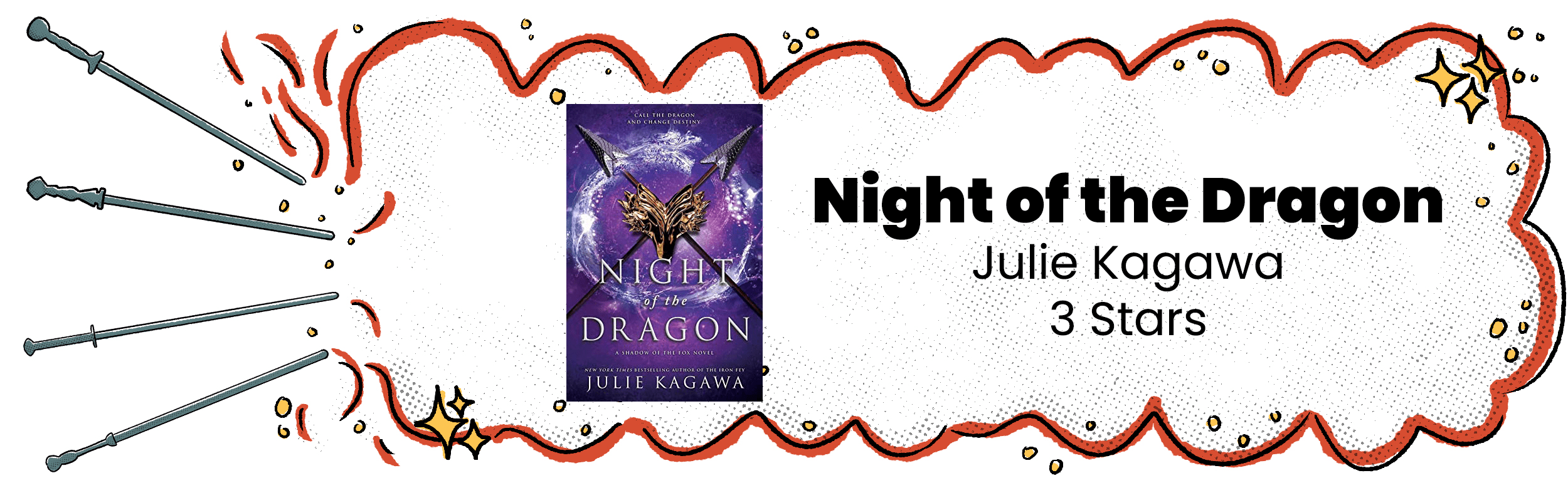 Night of the Dragon Review Banner with 3 Star Rating