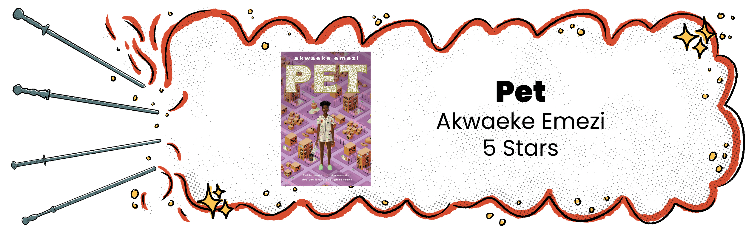 Pet Review Banner with 5 Star Rating