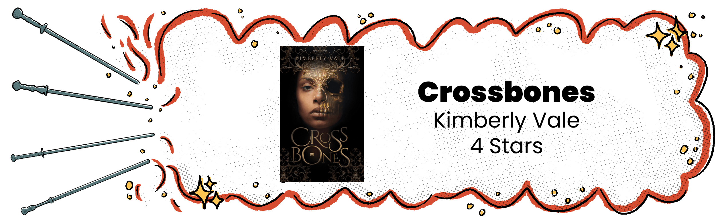 Crossbones Review Banner with 4 Star Rating