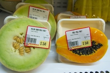 Paw Paw and Rock Melon. New World Metro, Willis St. 2016