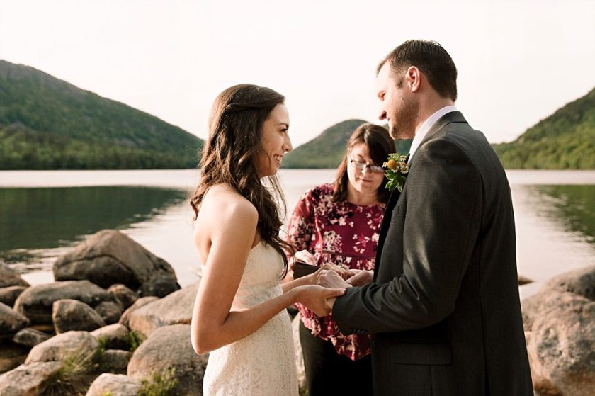 A couple ties the knot in Acadia National Park.