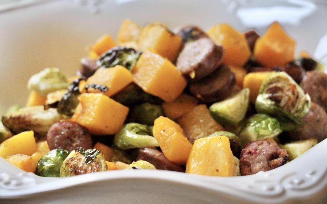 fall veggie sheet pan meal